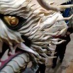 【八戸三社大祭の山車作り】十六日町山車組 特大龍の取り外し|You Tube